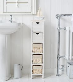 Narrow 20 Cm Wide Bathroom Freestanding Bathroom Storage Furniture