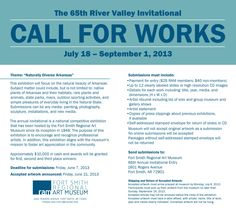 The 65th River Valley Invitational, July 18-September 1, 2013.