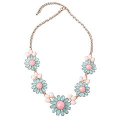 Mint and Pink Flower Statement