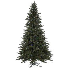 12 foot PE/PVC Spokane Instant Shape Pine Tree: Color Changing LED's | A152686LED