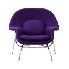 Modway W Lounge Chair and Ottoman Set in Purple Purple Home, Purple Furniture, Modern Furniture, Womb Chair, Swivel Chair, Chair Cushions, Chair And Ottoman Set, Purple Fabric, Purple Chair