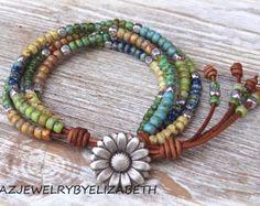 Designing Original Seed Bead Wrap Bracelet/ Beaded Leather