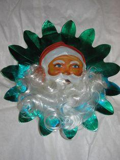 Vintage Foil Santa Claus Tree Topper Aluminum by TheIDconnection, $22.00