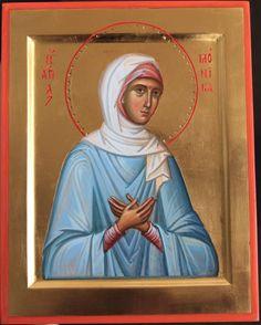Orthodox Icons, Saints, Baseball Cards, Female, Painting, Inspiration, Art, Byzantine Icons, Fresco