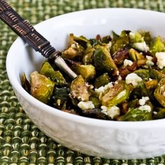 Brussel Sprouts with gorgonzola and pecans