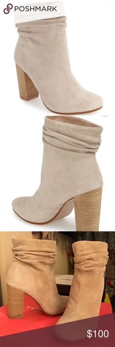 """Chinese Laundry Suede Boots - Kristin Cavallari Gorgeous slouchy """"Georgie"""" block heeled boots Worn once, in very good condition and true to size! Chinese Laundry Shoes Heeled Boots"""