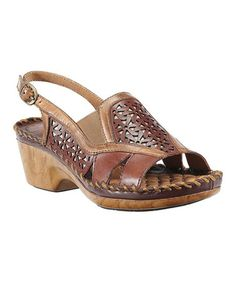 Look at this #zulilyfind! Cognac & Tan Del Ray Leather Sandal by Ariat #zulilyfinds