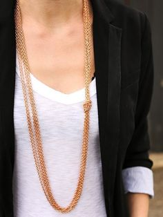 Fancy - Rose Gold Knotted Chain Necklace