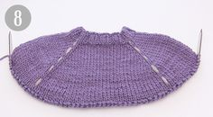 How to work a jumper top down - DROPS Lessons / Knitting lessons Knitting Paterns, Knitting Blogs, Lace Knitting, Crochet Kids Scarf, Knit Crochet, Drops Design, Knitted Hats, Tops, Gallery