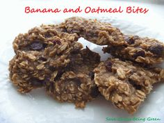 Banana Oatmeal Bites, a clean eating recipe #eatclean #cleaneating
