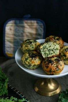 Kale Muffins with #Kamut® Brand Khorasan Wheat and Spelt