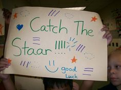 Encouraging 3rd and 4th graders in Texas on the eve of the first STAAR test.