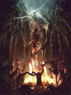 Dark Fantasy Art - Trend in 2020 Monster Concept Art, Fantasy Monster, Monster Art, Dark Fantasy Art, Fantasy Kunst, Dark Creatures, Mythical Creatures, Arte Horror, Horror Art