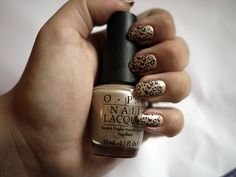 Do try this at home - leopard print nails