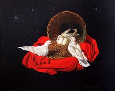 Vicky Vlahogianni , oil on canvas,Greek painter Taoism, Buddhism, Triple Goddess, Greek Art, Conceptual Art, Wicca, Art Museum, Printmaking, Oil On Canvas