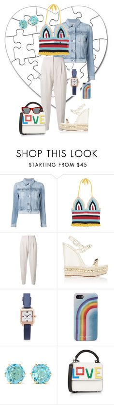 """""""Trending Part 4- Love me now"""" by scope-stilettos ❤ liked on Polyvore featuring 3x1, RED Valentino, MaxMara, Christian Louboutin, Marc Jacobs, Ippolita, Les Petits Joueurs and Preen"""