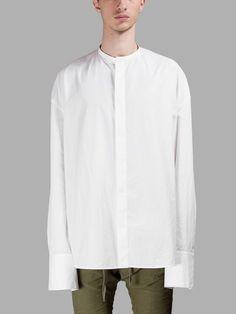 HAIDER ACKERMANN Haider Ackermann Men'S White Shirt. #haiderackermann #cloth #shirts