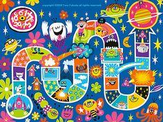 Fantastic board game design  #illustration style #dream project!!!!