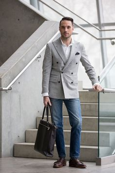 Dress It Down: Double-Breasted Blazer