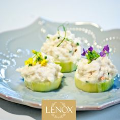 """WHITE BITES"" RECIPE 3. Lump Crab, Creme Fraiche & Lemon Canapes 