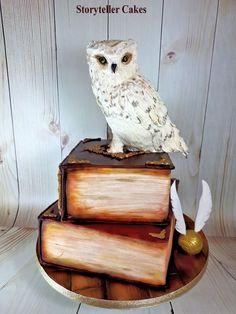 Harry Potter Owl/Book Cake by Storyteller Cakes