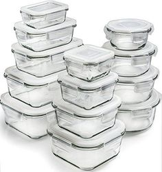 Glass Storage Containers with Lids Glass Food Storage Containers Airtight Glass Containers With Lids Glass Meal Prep Containers Glass Food Containers Glass Lunch Containers 26 Pieces -- undefined Glass Containers With Lids, Lunch Containers, Food Storage Containers, Lunch Boxes, Kitchen Items, Kitchen Gadgets, Kitchen Dining, Kitchen Banquette, Kitchen Tools