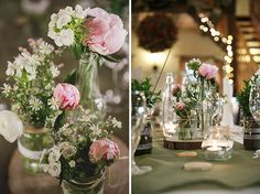 #Rustikale #Hochzeitsdekoration mit #Pfingstrosen • Rustic wedding decoration with peonies