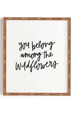 Deny Designs Chelcey Tate - Wildflowers Framed Wall Art | Nordstrom