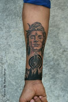Shiva Tattoo Design with some customization Tattoo By Rahul Barve Shiva Shambo, Lord Shiva, I Tattoo, Cool Tattoos, Awesome Tattoos, Mahadev Tattoo, Law Office Decor, Shiva Tattoo Design, Hindu Tattoos