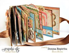 Click to see the beautiful pages of Donna's travel mini album using Come Away with Me #graphic45