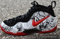 Nike Foamposite Pro Marvel Madness Custom by Van Monroe