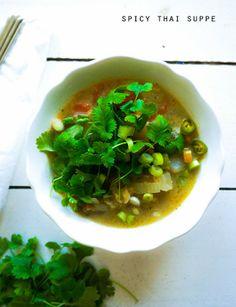 Spicy thai suppe - vegetar
