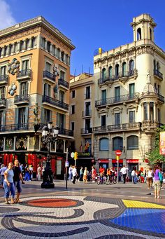 Las Ramblas  - Barcelona Miró mozaic, Spain