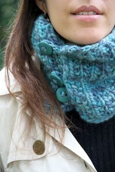 love the cowl & buttons