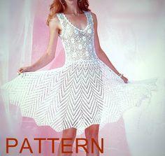 PATTERN- short sexy crochet dress summer beach top