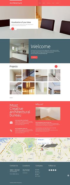 I am a big fan of flat design - so here an other one: a very elegant  design for an Architecture site, responsive JavaScript animated, Item: 48558, $69 = http://templates-n-more.com