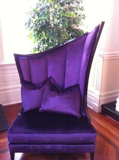 Regal Purple Velvet Chair ~ wow ♥