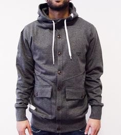 Coaty heather charcoal - DRMTM - DreamTeam Clothing | Original German - Streetwear & Fashion Online Store