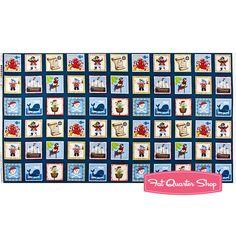 Pirates Multi Quilt Panel SKU# 1113-1 - Fat Quarter Shop Fat Quarter Shop, Panel Quilts, Fabric Panels, Quilt Patterns, Kit, Sewing, Pirates, Fabrics, Shopping