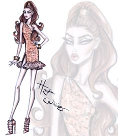 Hayden Williams Fashion Illustrations | Red Carpet Glam: 'Rose Gold' by Hayden Williams