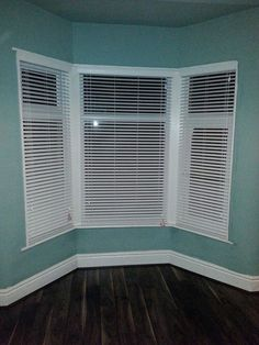 Liverpool White Faux Wood Venetian Blinds Fitted Into A Bay Window From Http