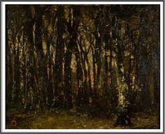 László Paál (1846–1879), Coucher de Soleil en Forêt - 1875 Paintings, Landscape, Plants, Drill Bit, Sun, Paint, Painting Art, Plant, Painting
