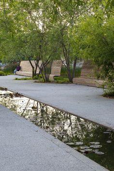 Risultati immagini per Mutabilis Paysage Parc Chemin de l'Ile 12 Landscape And Urbanism, Urban Landscape, Landscape Design, Modern Landscaping, Garden Landscaping, Water Features In The Garden, Garden Architecture, Gras, Water Garden