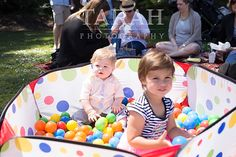 We set-up a ball pit for the babies to play in. It was a hit for a first birthday picnic party.