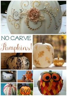 No-Carve Pumpkins -