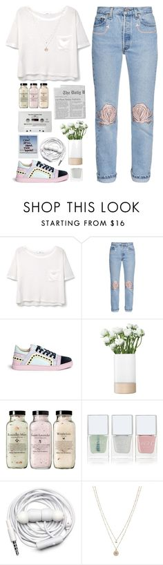 """I'm Bigger Than My Body"" by angeline-wonderwall ❤ liked on Polyvore featuring MANGO, Bliss and Mischief, Sophia Webster, LSA International, CASSETTE, Nails Inc., Urbanears, LC Lauren Conrad and WardrobeStaple"