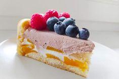 Nepečená jogurtová torta s ovocím, Torty, recept | Naničmama.sk Cheesecake, Desserts, Food, Tailgate Desserts, Deserts, Cheesecakes, Essen, Postres, Meals