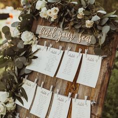 Love us a creative seating chart!! The tiny clothes hangers are super cute and that laser cut sign from @happilyeveretched is   .  by @isaiahandtaylorphotography. #engaged #wedding #weddings #weddinginspiration #weddinginspo #weddingday #bride #bridetobe #seatingchart #weddingsignage #weddingflowers #flowerstagam #flowermagic #floraldesign #Regram via @loverly