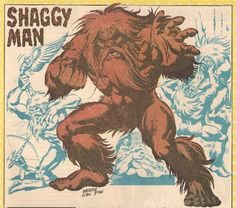 """""""Shaggy Man"""" comic art by Wendy Pini of Elfquest fame."""