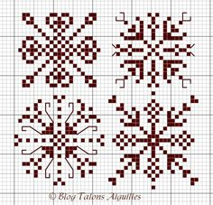 Snowflake cross stitch idea for the holidays.  #crossstitch #snowflake #christmas